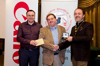IPF President Michael O'Sullivan and Shane Cowley from Canon Ireland pictured with award winner Bill Power
