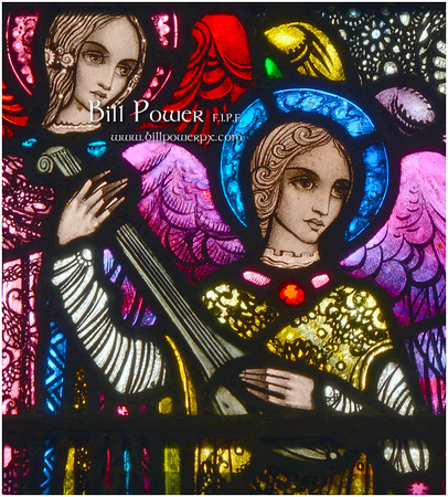 2014 Christmas Stamp 'Angel with Lute' from Millstreet Church