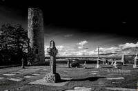 Clonmacnoise Round Tower and High Cross